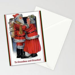 To Grandma and Granded Mr and Mrs Claus Christmas Card Stationery Cards