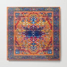 N86 - Vintage Boho Berber Moroccan Handmade Style Design. Metal Print
