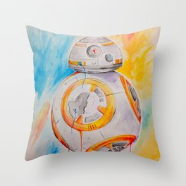 BB8 watercolor painting Throw Pillow