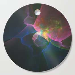 Colored Abstract Cutting Board