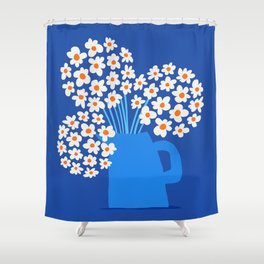 Abstraction_FLORAL_Blossom_001 Shower Curtain