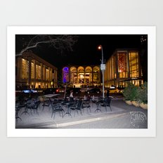 Dante Park and Lincoln Center Art Print