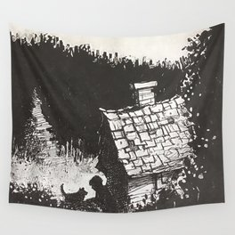 Boy and His Dog Wall Tapestry