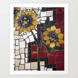 Sunflower Mosaic Art Print