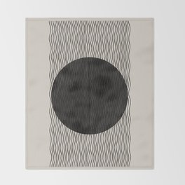 Woodblock Paper Art Throw Blanket