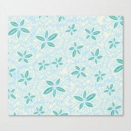 Sea Blue Lily Flower Canvas Print