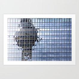 Pixelated... Art Print