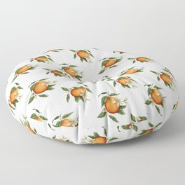 Blooming Citrus Watercolor Floor Pillow