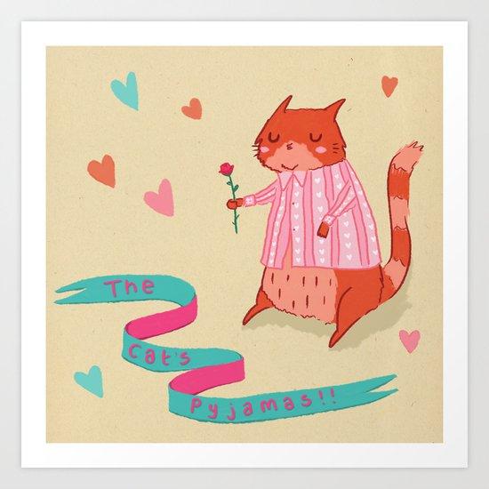 The Cat's Pyjamas Art Print