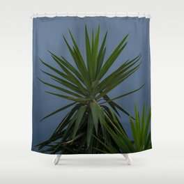 Fronds in a Storm Shower Curtain