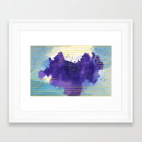 rorschach Framed Art Prints featuring Rorschach by Sonia Garcia