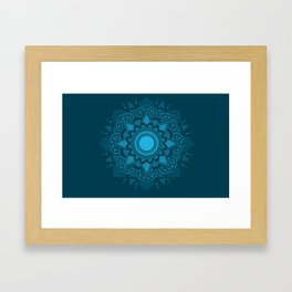 Blue Mandala #4 Framed Art Print