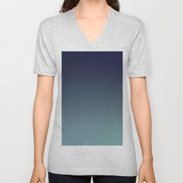 NIGHT SWIM - Minimal Plain Soft Mood Color Blend Prints Unisex V-Neck