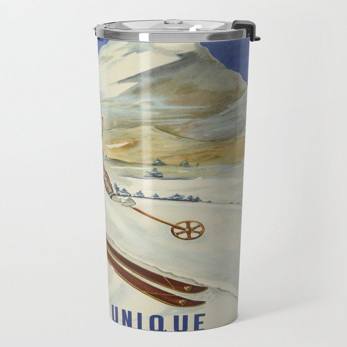 Vintage poster - Crawford Notch, New Hampshire Travel Mug