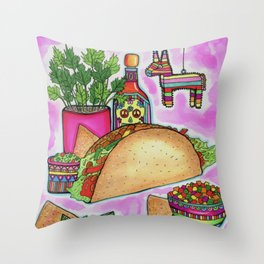 Piñata Taco Throw Pillow