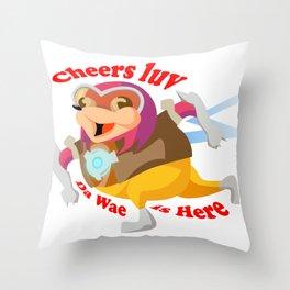 Ugandan Cheers Luv Throw Pillow