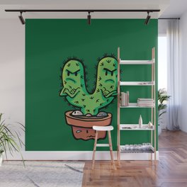 cacti couple crossed Wall Mural