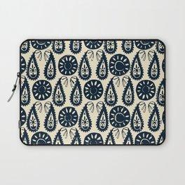 paisley block indigo ivory Laptop Sleeve