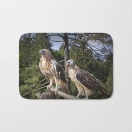 Pair of Red-tail Hawks Bath Mat