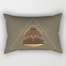 multitasking woman Rectangular Pillow