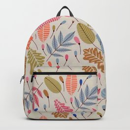 Retro Leaves Illustration Backpack