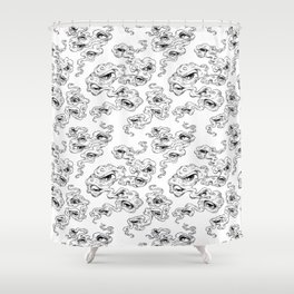 All seeing smoke Shower Curtain