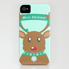 Christmas Reindeer Slim Case iPhone (4, 4s)