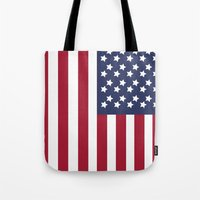 america Tote Bags featuring America. by Jake  Williams