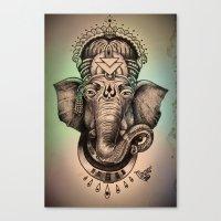 ganesha Canvas Prints featuring Ganesha by Morgan Soto