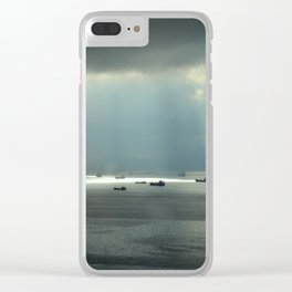 Ships at sea in Istanbul Clear iPhone Case