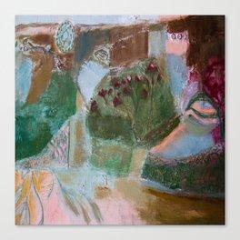 Floral landscape Canvas Print