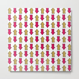 Bright pink orange modern artistic arrows Metal Print