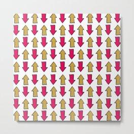 Bright pink orange modern artistic arrows Metal Print
