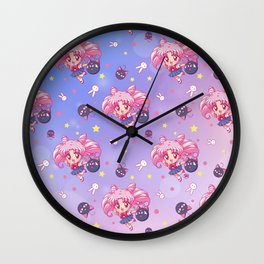 New Chibiusa Pattern Wall Clock