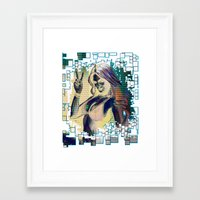 grand theft auto Framed Art Prints featuring grand theft auto v by Colioni