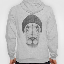 Hipster Lion Drawing  Hoody