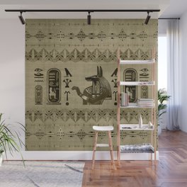 Egyptian Anubis Ornament Wall Mural