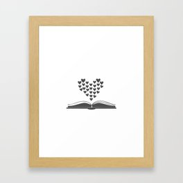Loving Books Framed Art Print