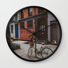 New York's West Village Wall Clock