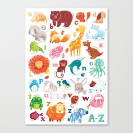 Animalphabet Canvas Print