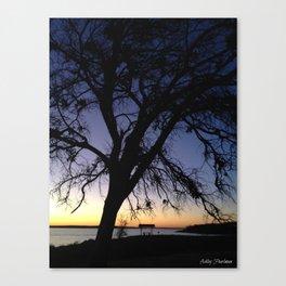 Silhouette at Nightfall  Canvas Print