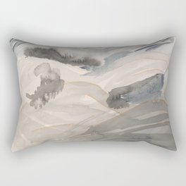 Abstract Stormy Alpine Landscape Rectangular Pillow