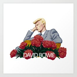 Dave and some flowers. Art Print