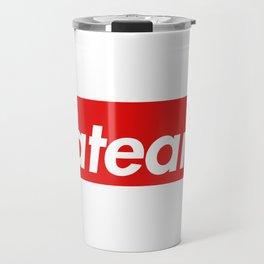 Flat Earth Red Box Logo Travel Mug