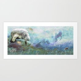 Sea Cows Art Print