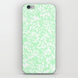 Small Spots - White and Light Green iPhone Skin