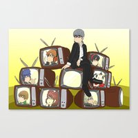 persona 4 Canvas Prints featuring Persona 4 by timehwimeh