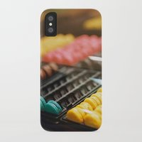 macarons iPhone & iPod Cases featuring Macarons by Laura L.