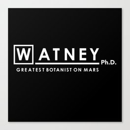 Watney Ph.D. Canvas Print