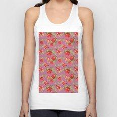 Rose pattern- pink Unisex Tank Top
